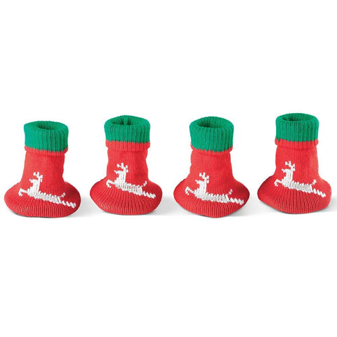 Collections Etc Chair Leg & Table Leg Socks Christmas Decoration - Help Protect Your Floors