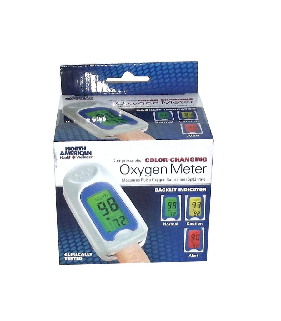 North American Health + Wellness Non-Prescription Color Changing Oxygen Meter