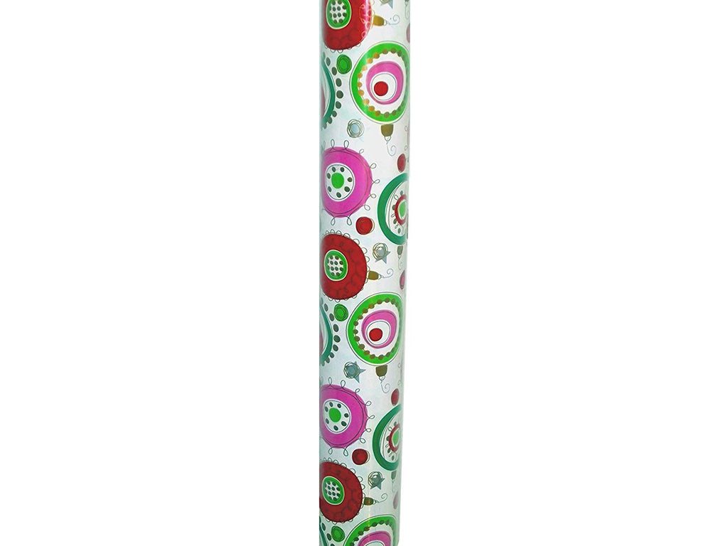Bubbles and Bangles Christmas Gift Wrap Paper 30in x 10ft