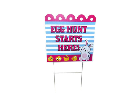 Easter Egg Hunt Yard Stakes (Pack of 5)