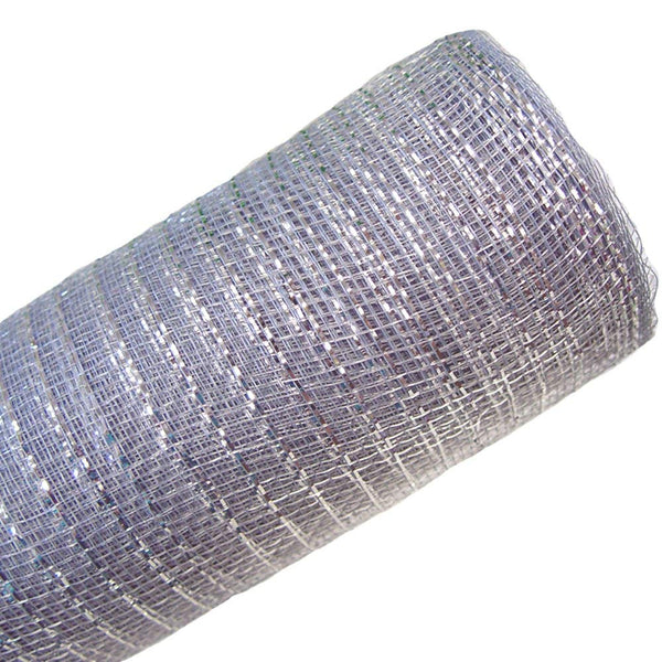 SILVER MESH RIBBON, 18 FT.