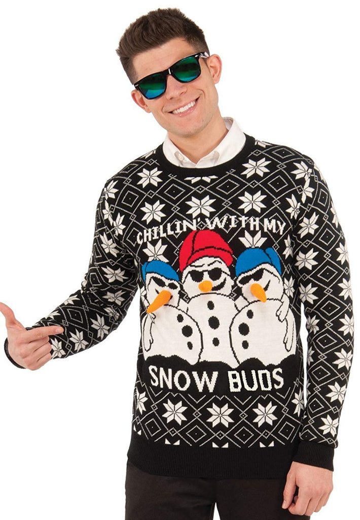 Forum Men's Ugly Christmas Sweater, Snow Buds
