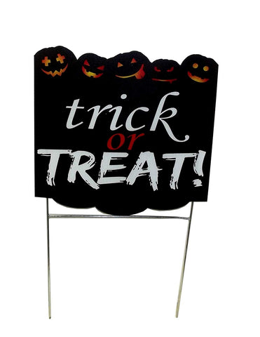 "Aahs Engravings ""Trick or Treat! Sinister Jack-O-Lantern Yard Sign"