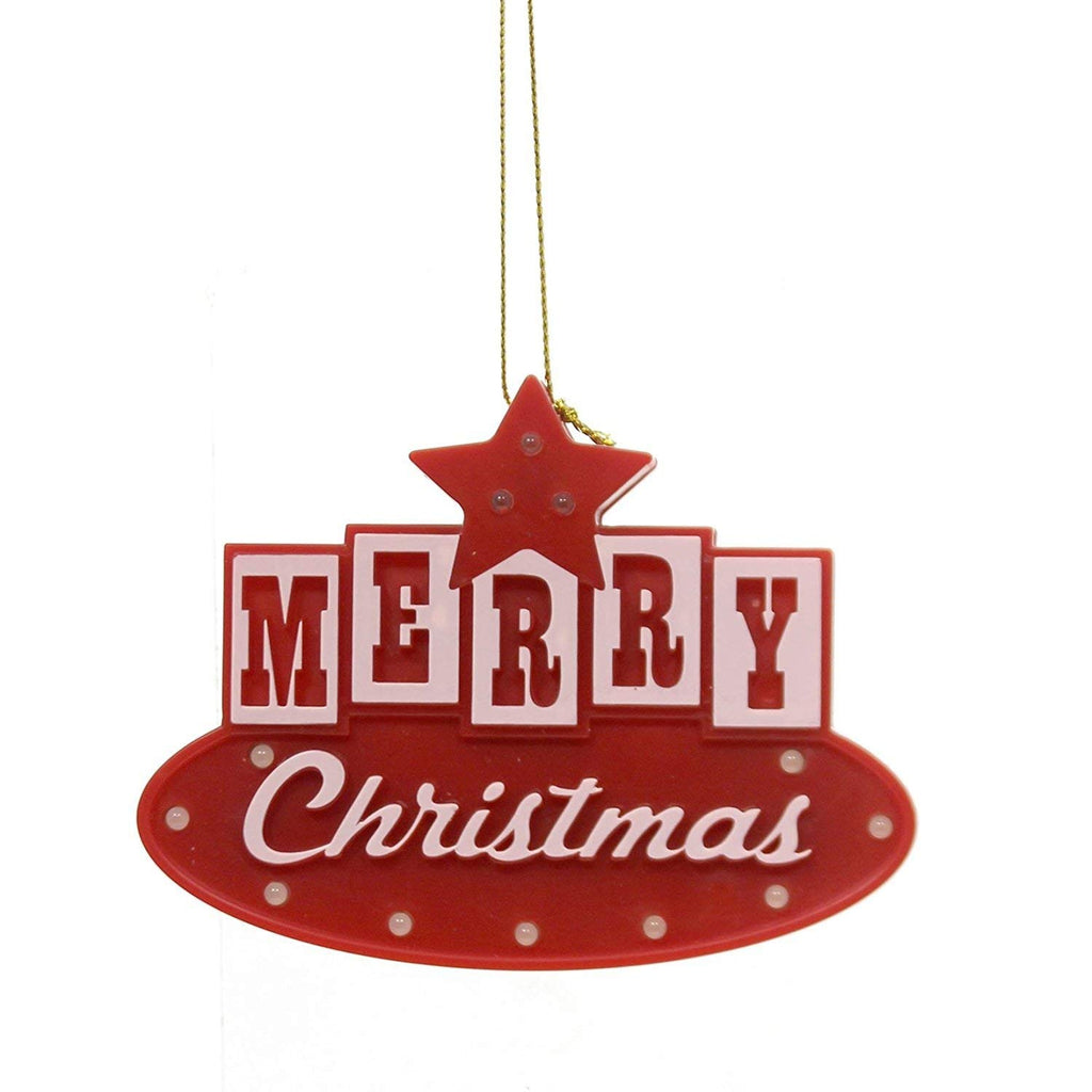LED Merry Christmas Ornament