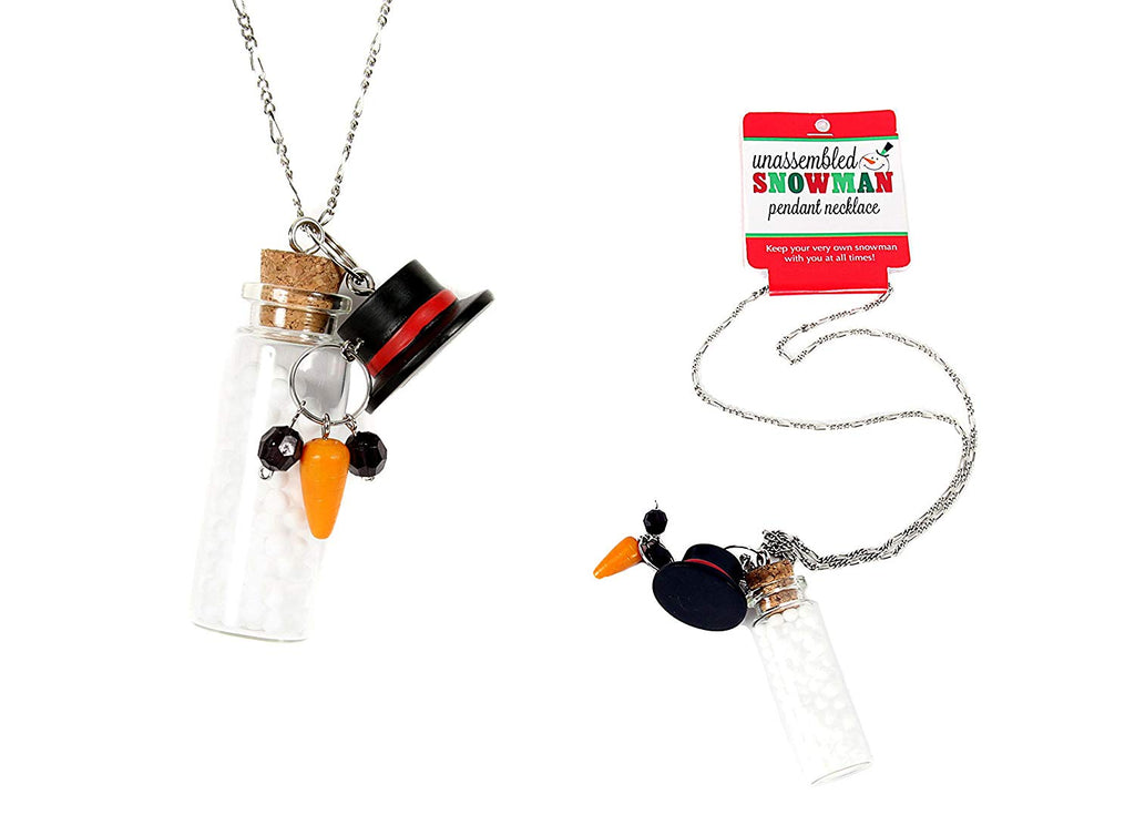 Dennis East Unassembled Snowman Pendant Necklace
