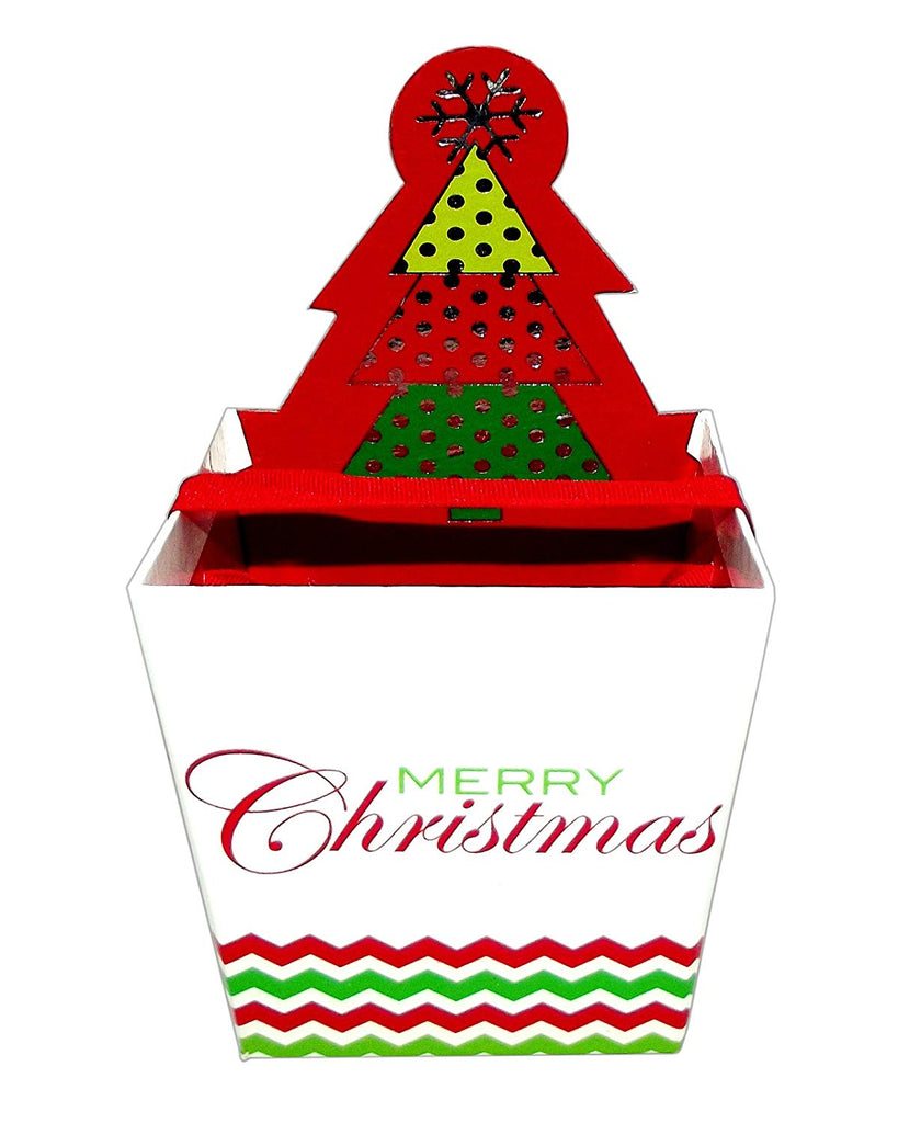 Christmas Diecut Square Pail Treat Box (Christmas Tree)