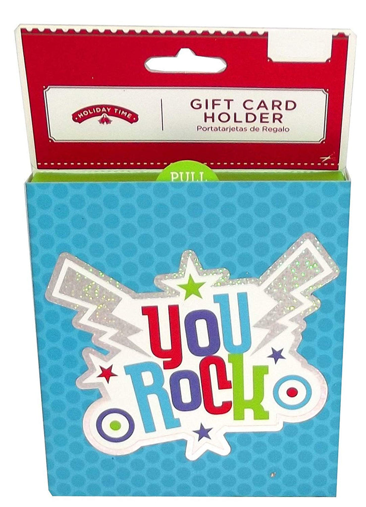 Holiday Time You Rock Gift Card Holder