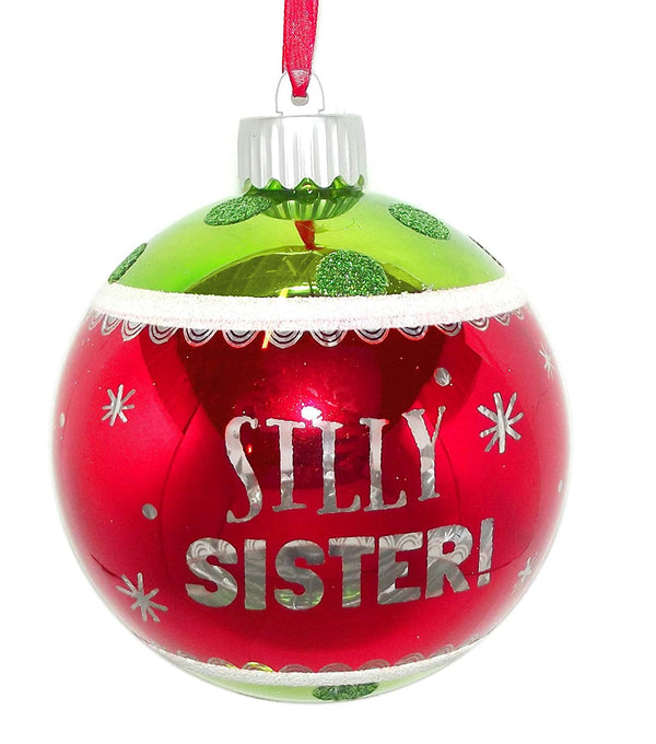 Silly Sister Holiday Light-Up Ornament