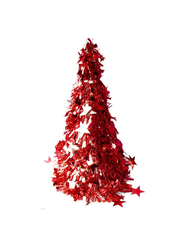 UNITED MERCH GRP SANTA'S FINEST CHRISTMAS TABLE TOP TREE STARS RED