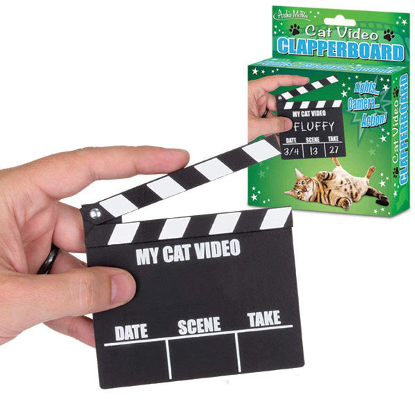 Accoutrements Cat Video Clapperboard Movie Clapper Board