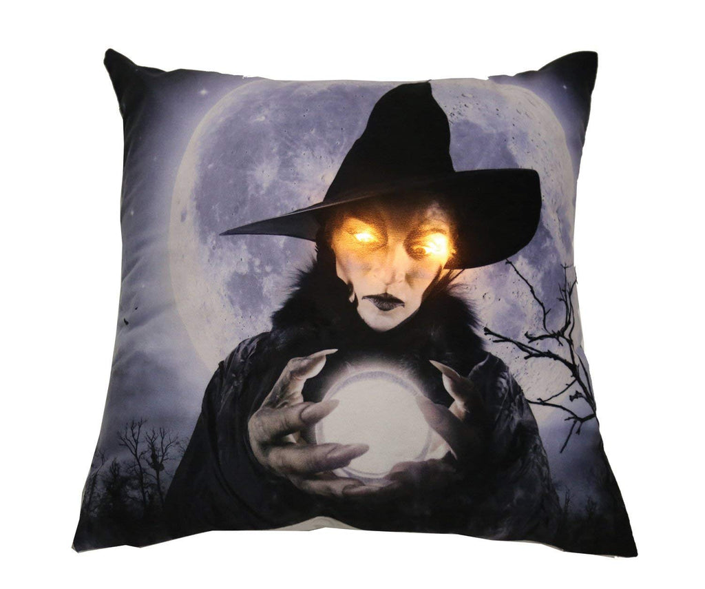 Forum Novelties Witch Light-Up Pillow, Multicolor