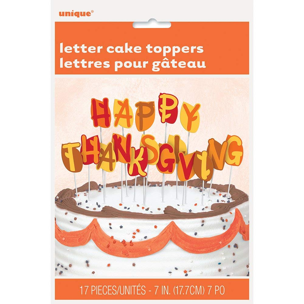 Happy Thanksgiving Letters Cake Topper