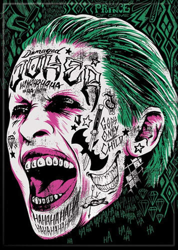 Suicide Squad - Joker Screaming - Refrigerator Magnet