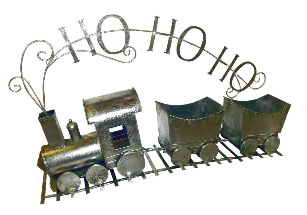 Gerson 50in Light Up Antique Ho Ho Ho Train