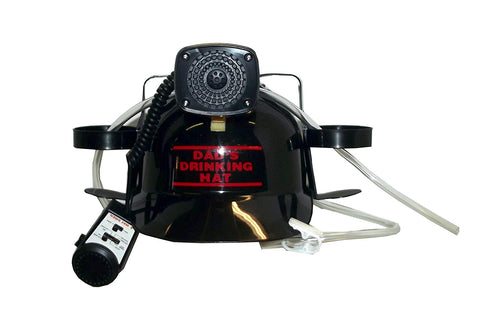 Beer, Cola, Soda Helmet Hard Hat Can Holder w/Siren and Novelty Decal