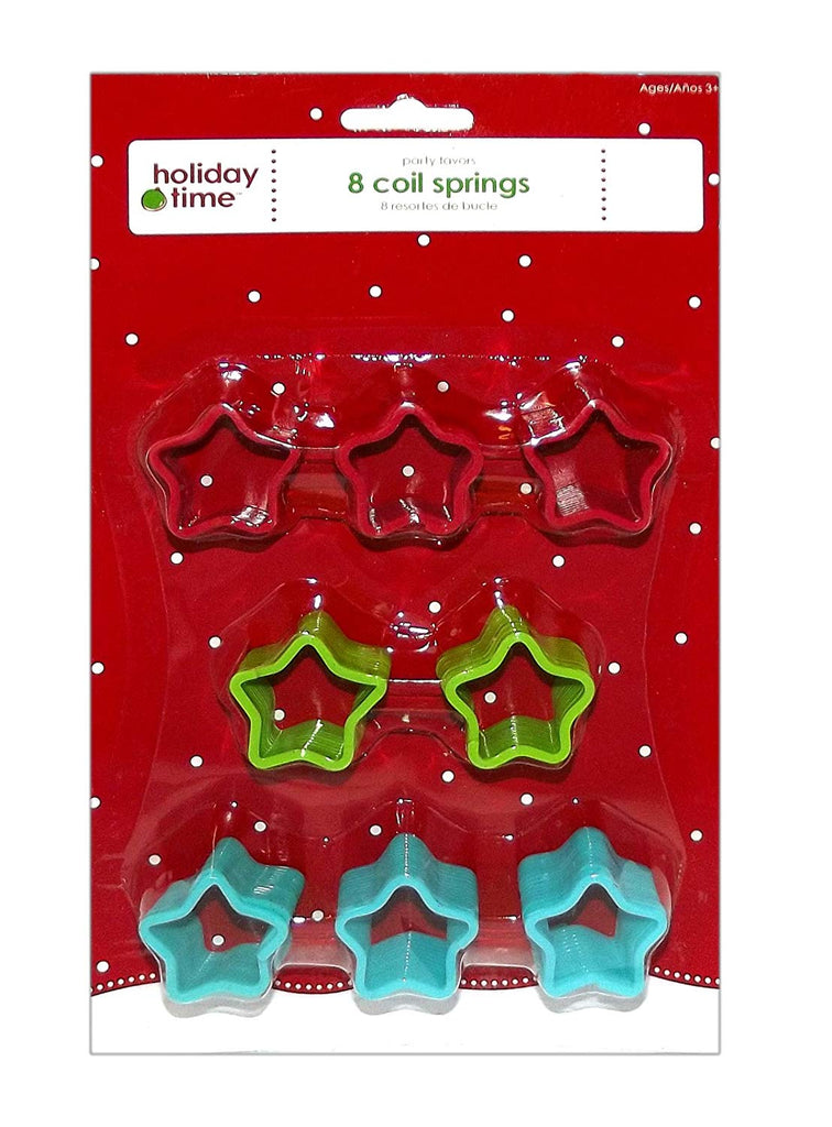 Coil Springs Party Favor Set, 8-Pieces (Small)
