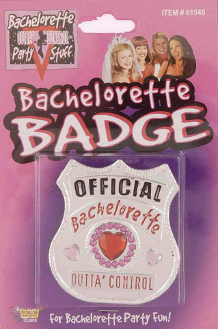 Bachelorette Party 12 Inch Official Badge Outta Control Accessory (1/pkg)