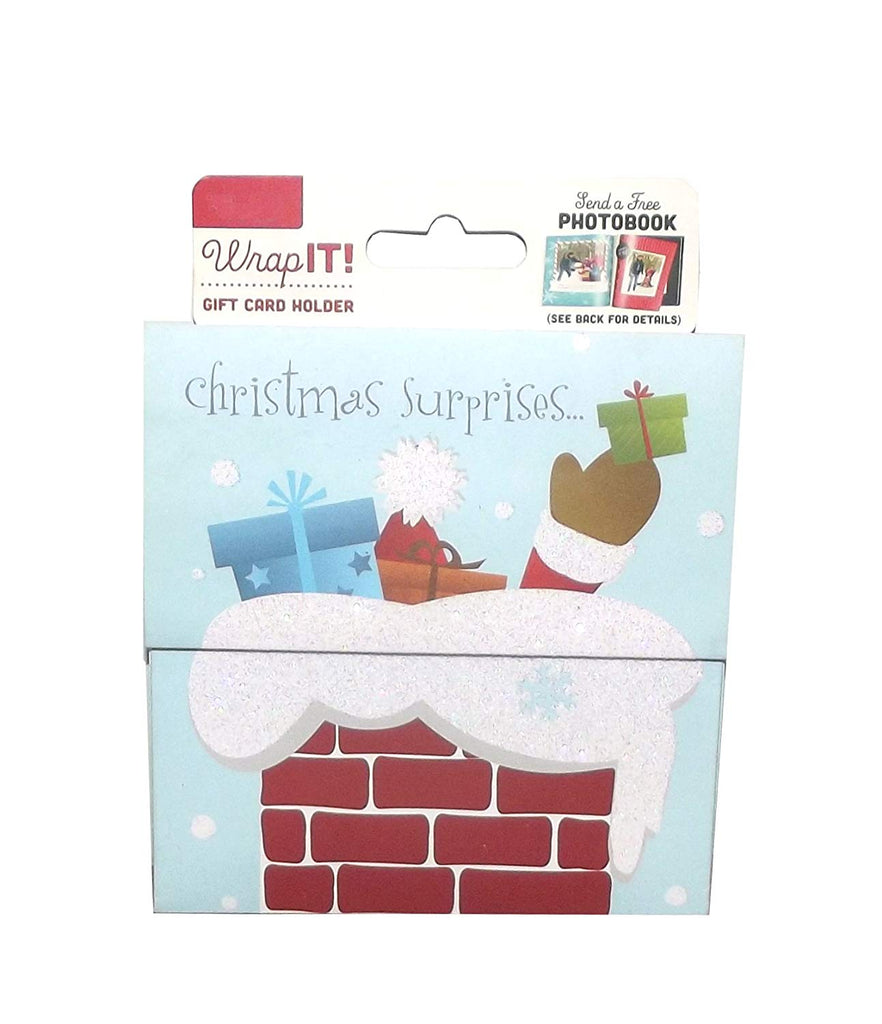 Wrap It! Holiday Gift Card Holder, 4 X 4 inches