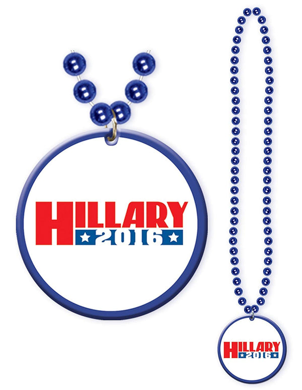 Democratic Candidate Beads w/Medallion