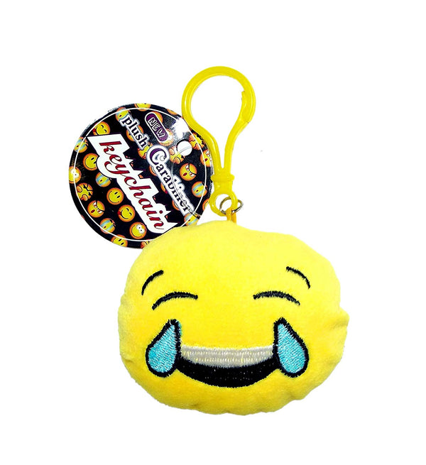 Emoji Plush Carabiner Keychain, Laughing Tears