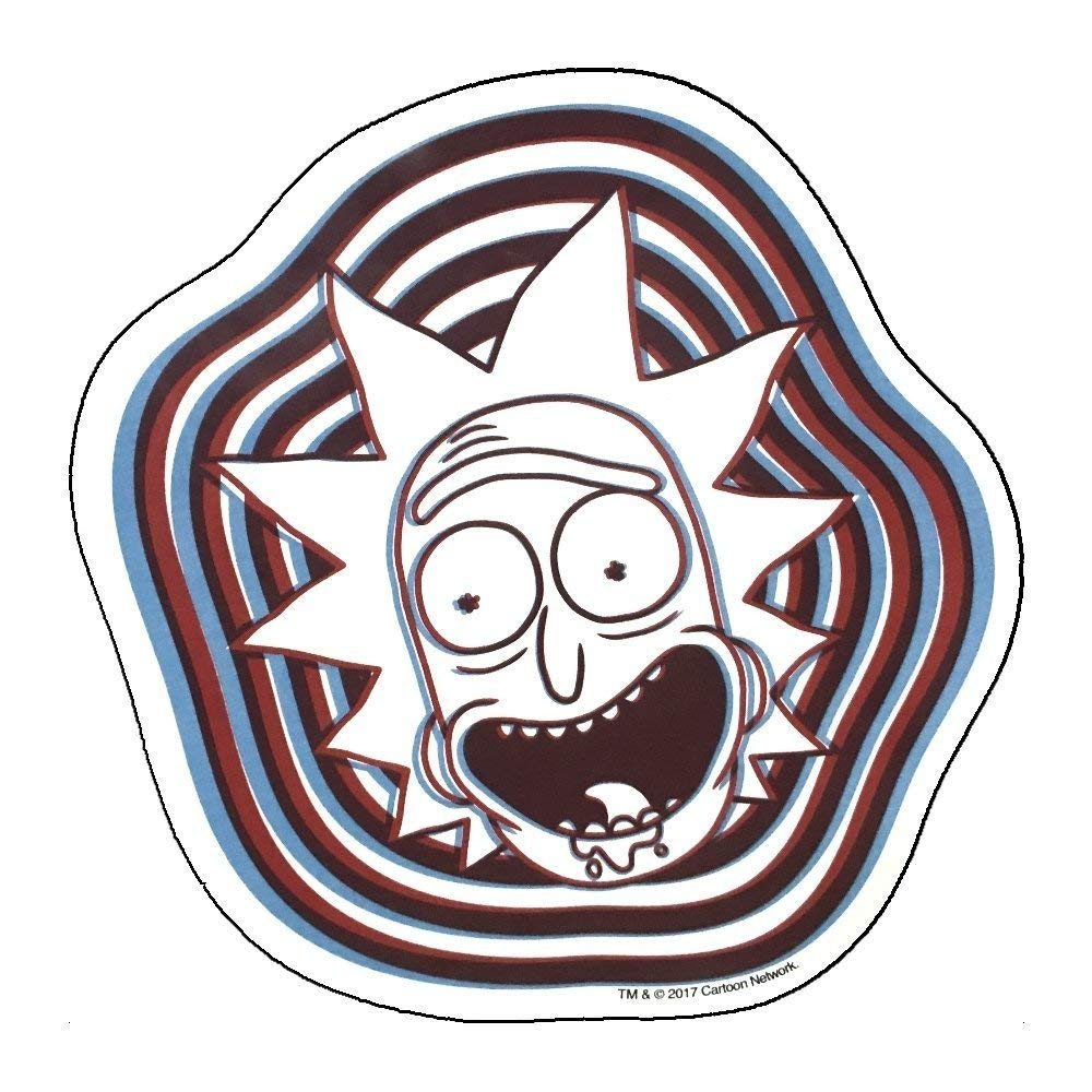 Rick and Morty - Psychedelic Car Magnet