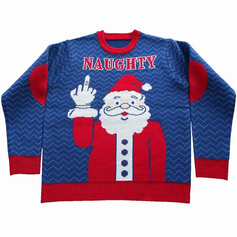 Naughty Santa Ugly Christmas Sweater- FunQi