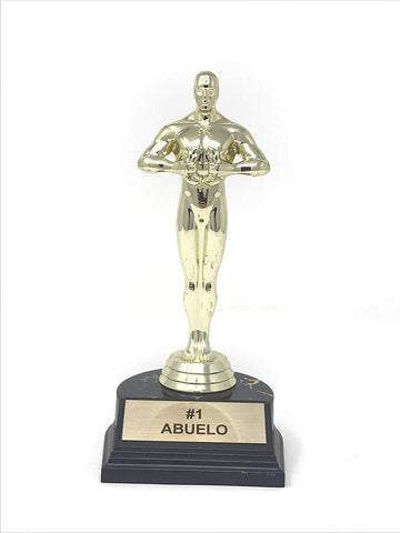 Number 1 Abuelo Trophy Award-7 inches