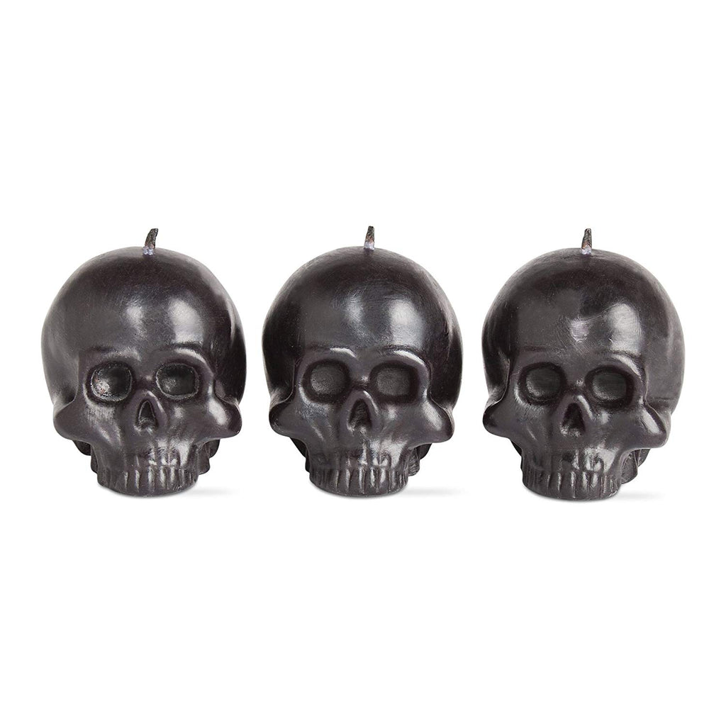 tag Halloween Mini Skull Candle Set Of 3