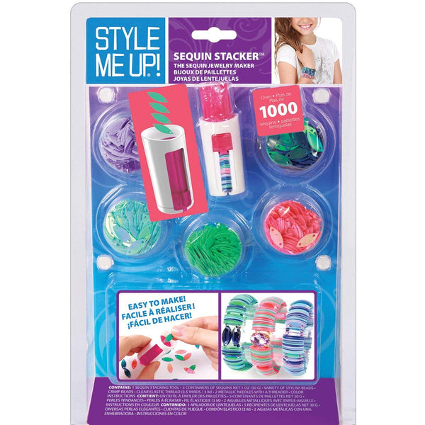 Wooky Entertainment Style Me Up! Sequin Stacker Kit, Pink