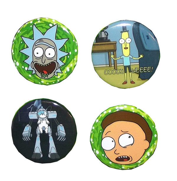 Rick and Morty - Button Set