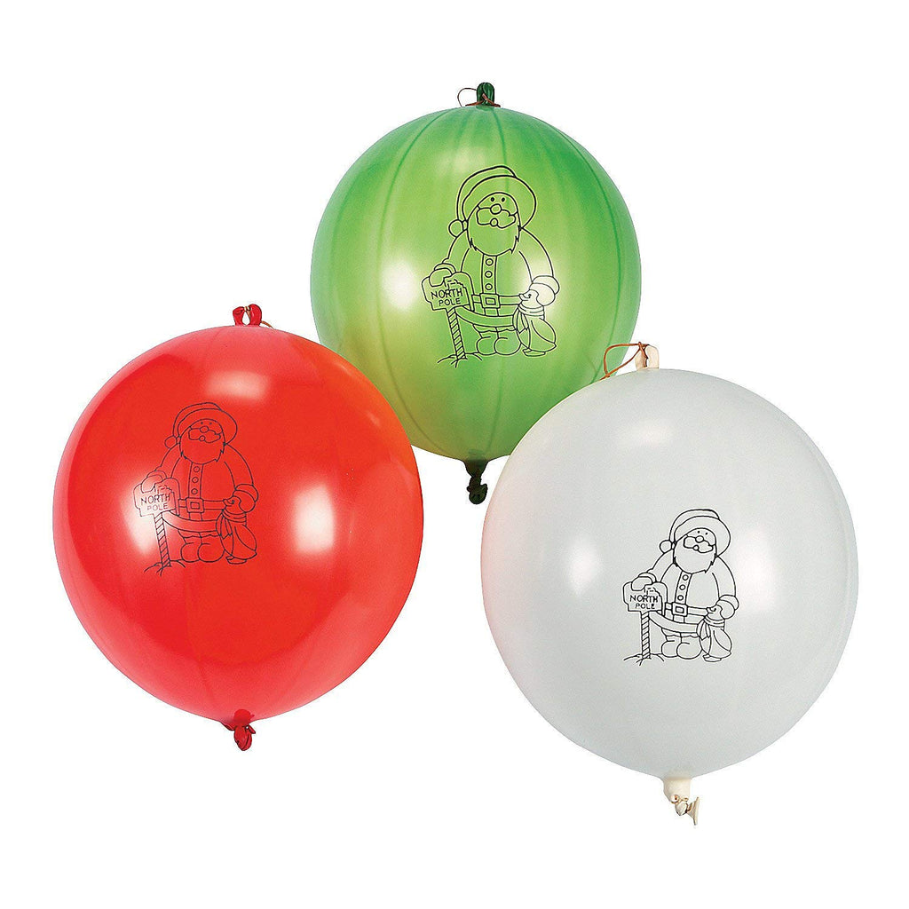 16 Inch Rubber Holiday Punch Balls