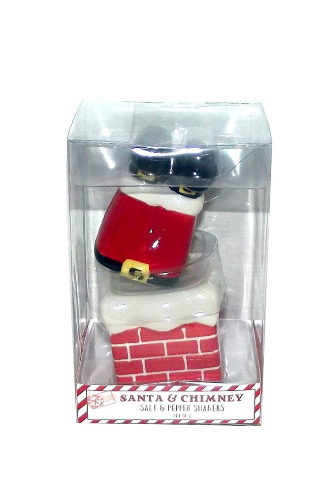 Santa and Chimney - Salt and Pepper Shakers