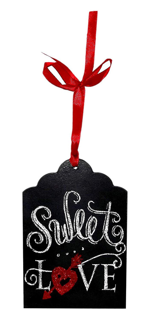 Mini MDF Chalkboard Tag, Sweet Love