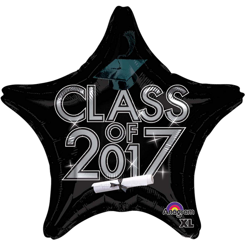 Anagram Class of 2017 Black Balloon