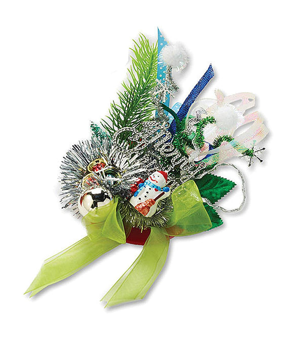 Christmas Holiday Corsage Pin/Clip, Snowman