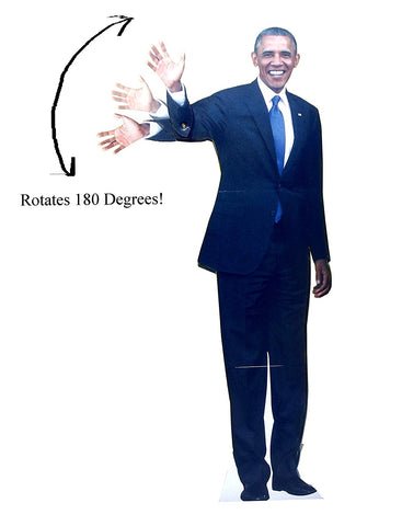 Aahs Engraving Waving Barack Obama Life Size Novelty Cardboard Stand Up, 6 feet