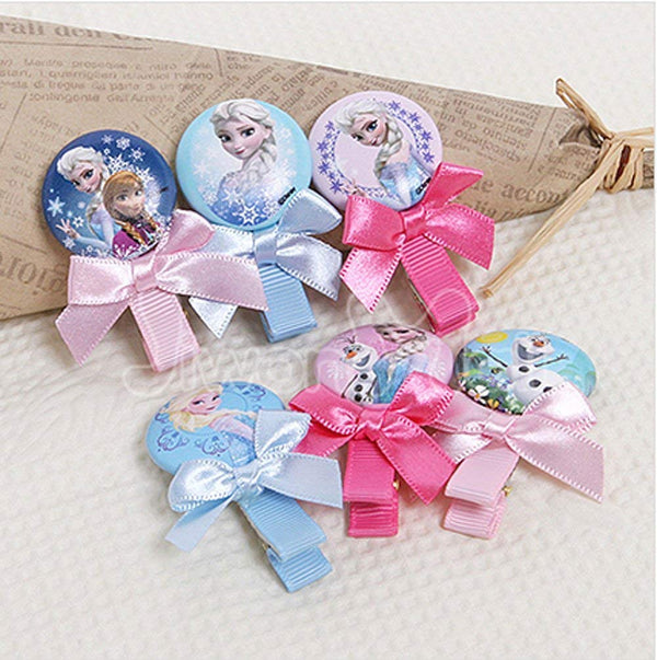 Disney Frozen Kid Children Button Hair Clips (Assorted-Choices my vary)