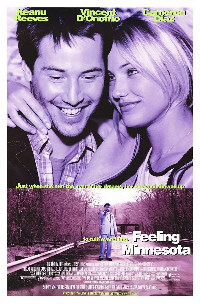 FEELING MINNESOTA MOVIE POSTER 1 Sided ORIGINAL 27x41 KEANU REEVES CAMERON DIAZ