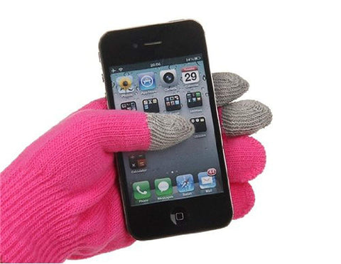 Change Unisex Magic Touch Screen Gloves Texting Smartphone iphone Stretch Winter Knit (Hot pink)