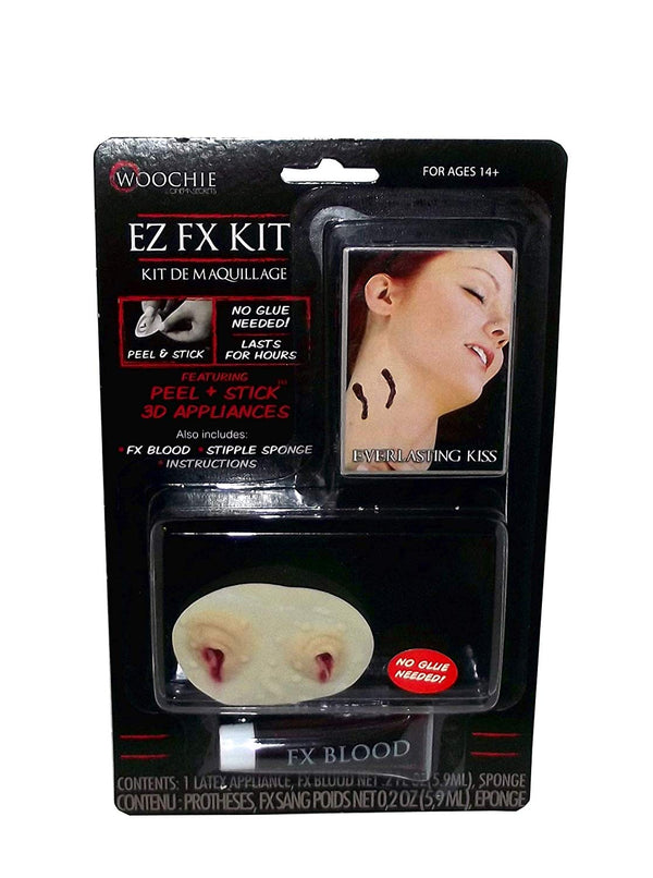 Cinema Secrets Woochie EZ FX Costume Makeup Kit, 4 Pieces (Everlasting Kiss)