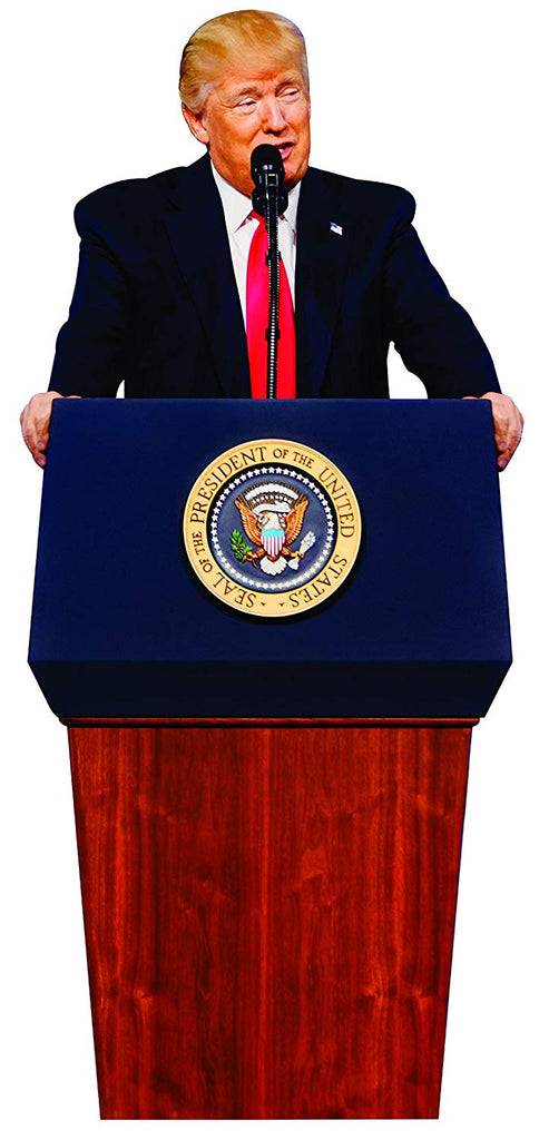 Aahs Engraving President Donald Trump Press Release Life Size Carboard Stand Up, 6 feet