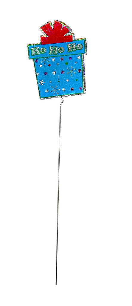 Christmas Holiday Holographic Path Marker Yard Sign (Present)
