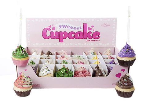 Cupcake Ornament, Assorted - Styles Vary