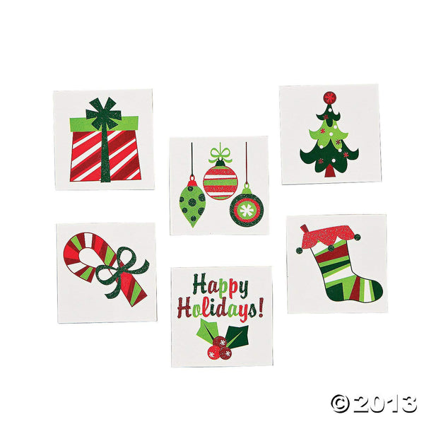 Fun Christmas Glitter Tattoos - Novelty Jewelry & Tattoos & Body Art