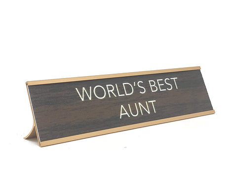 Aahs Engraving World's Best. Novelty Nameplate Style Desk Sign