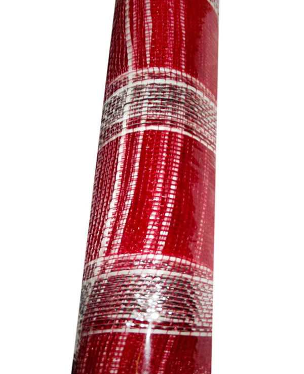 Red and White Checkered 15-Foot Decorative Fabric