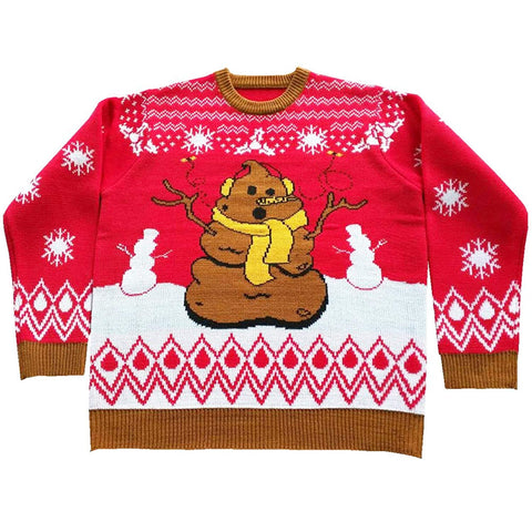 Crappy Holidays Ugly Christmas Sweater-FunQi