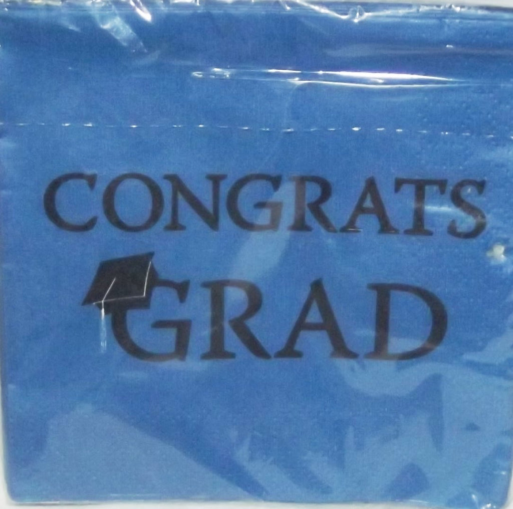 'Congrats Grad' Lunch Napkin (Blue)