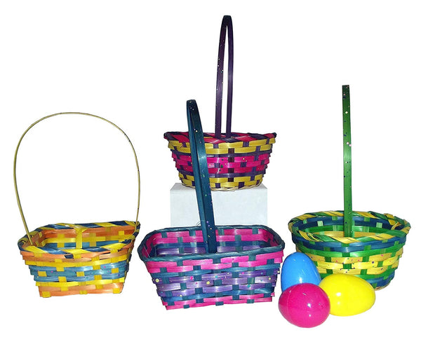"11.5"" Springtime Easter Small Woven Basket Assortment-Includes 1; styles vary"