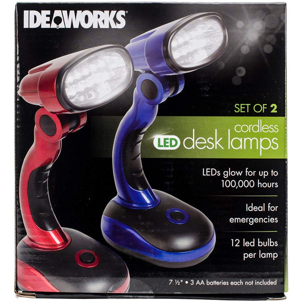 IdeaWorks JB6173MULTI LED Desk Lamps-Red and Blue